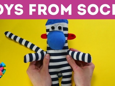 Cutest Handmade Toys From Socks : DIY On How To Make Bunny, Cat, Monkey From Socks | A+ Hacks