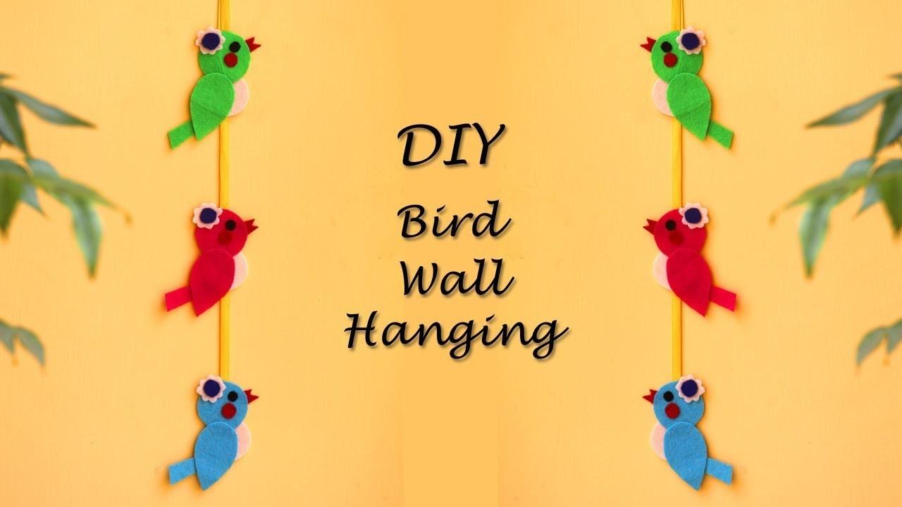 DIY Bird Wall Hanging, Spring Home Decor Ideas, Felt Crafts, Little ...