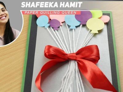 DIY Birthday Card. Handmade card for birthday, Balloon Bash Birthday Card Step by Step