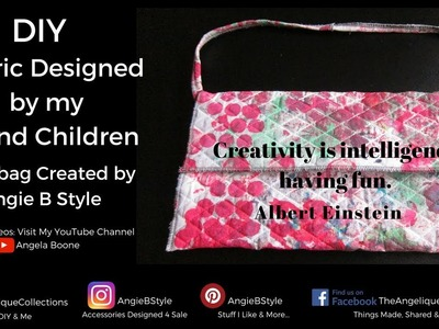 DIY | Custom Hand Painted Fabric | Created Into A Handbag