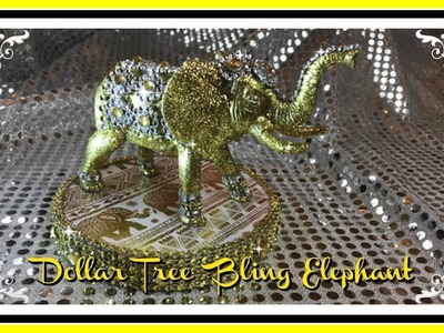 DIY - DOLLAR TREE BLING GOLD ELEPHANT - MOTHERS DAY GIFT IDEA