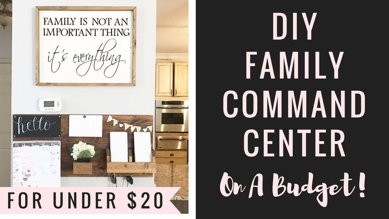 DIY Family Command Center ON A BUDGET!???????? + Organizing Ideas!