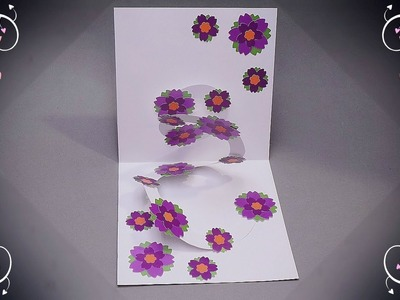 DIY Flower Pop up Card for Mother's Day | Handmade Greeting Card for Mom