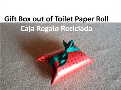 DIY Gift Box - Caja Regalo de rollo papel higiénico reciclado