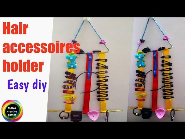DIY hair clip & head band holder#simple hair accessories organizer making at home