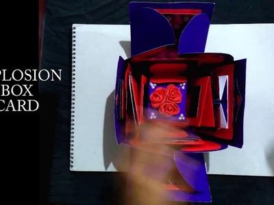 DIY Handmade explosion box card idea   greeting card   love card   birthday card   by Akanksha Singh