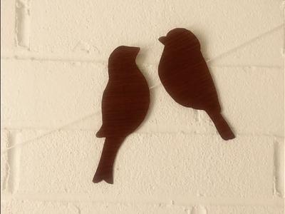 DIY Hanging Birds  - Easy Home Decor