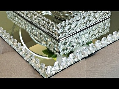 DIY.How To Make a Large Mirrored Tray | GreenCrystalRose At Home