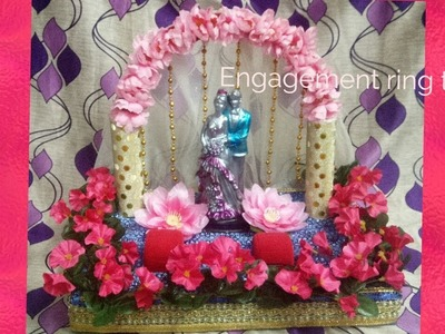 DIY : How to make - decorative engagment ring tray step by step.wedding tray