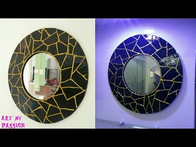 DIY Mirror Wall Decor|diy wall decor.room decor.cardboard wall hanging| artmypassion