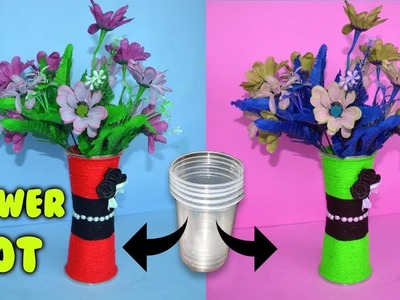 How To Make A Flower Vase Made Of Plastic Bottles Flowers Healthy