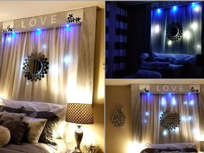 Diy Over the Bed Wall Decor With Lightings| Wall Decorating Ideas for Bedrooms!
