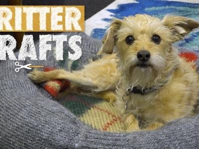 DIY Pet Sweater Beds | Critter Crafts
