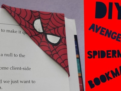 DIY SPIDERMAN BOOK MARK   DIY AVENGERS BOOKMARK   C.A.N