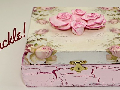 DIY Storage Box | Decoupage And Crackle With Elmer's Glue