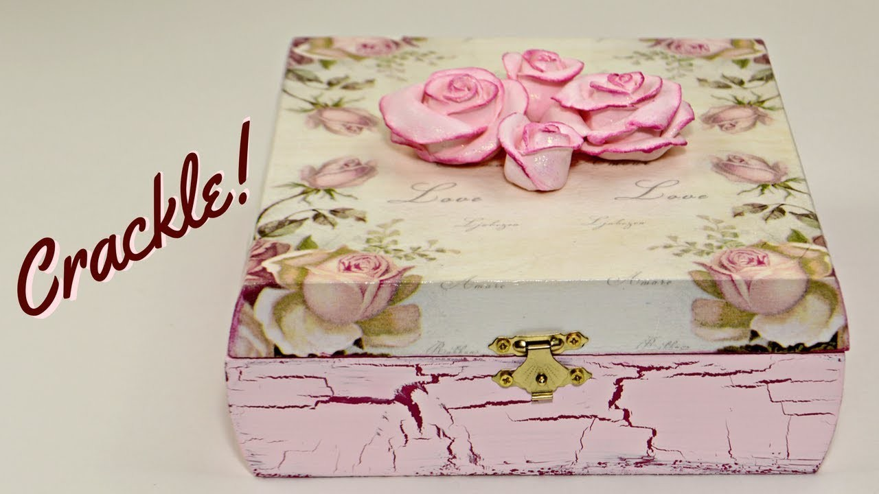 DIY Storage Box, Decoupage And Crackle With Elmers Glue