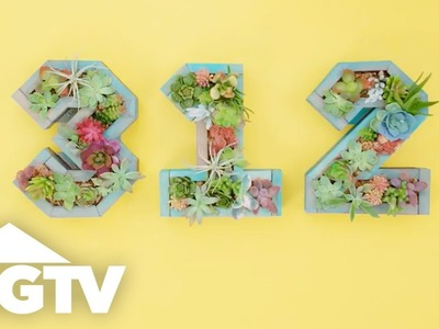 DIY Succulent House Number Boxes - Way to Grow - HGTV