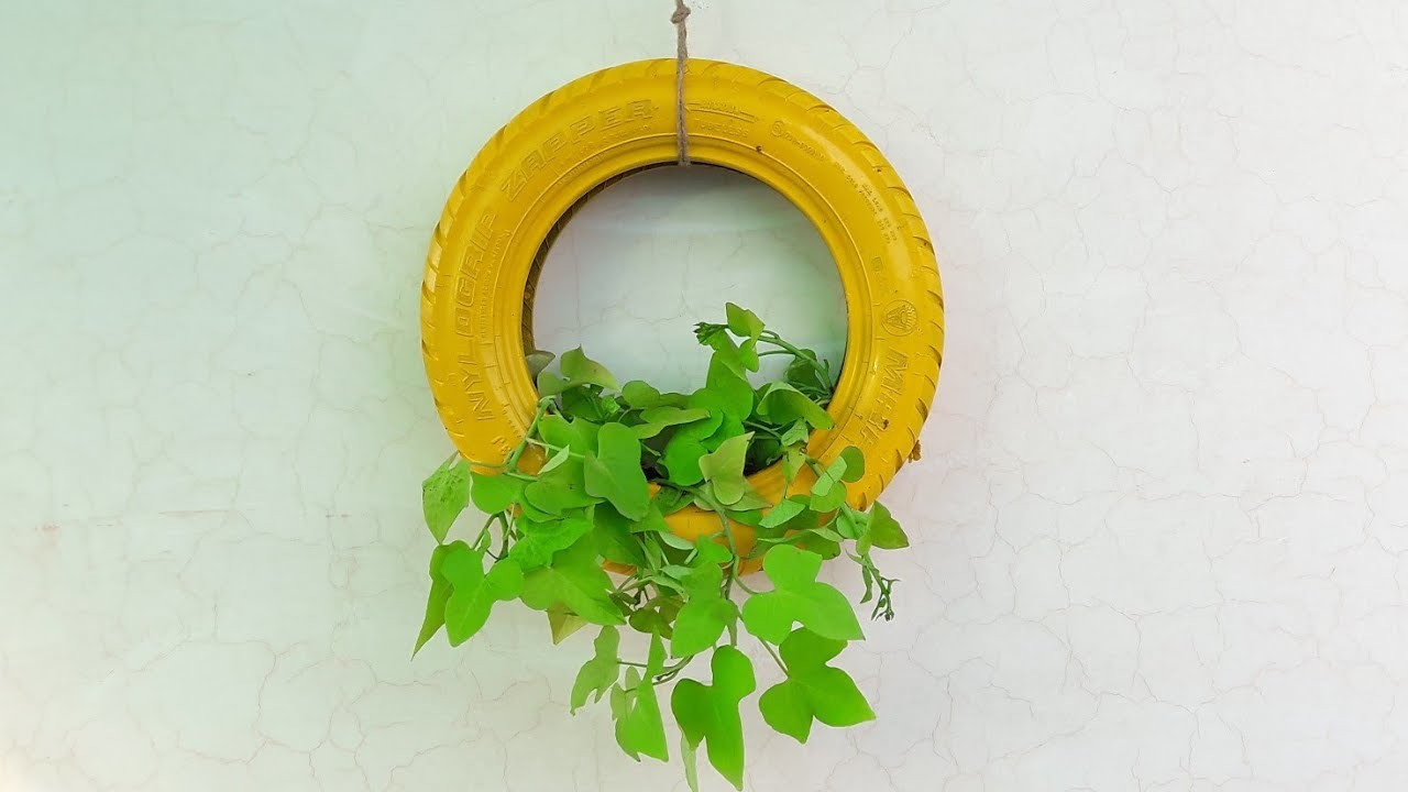 DIY Tire Planter || How to Make Old Tire Planter ||पुराने टायर से प्लांटर कैसे बनाएं ||Fun Gardening