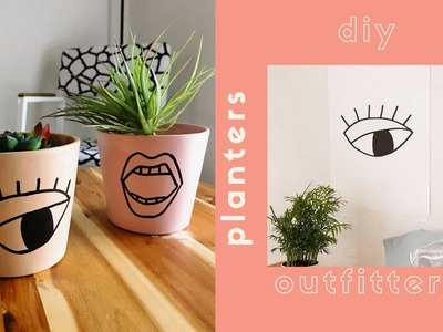 DIY URBAN OUTFITTERS HOME DECOR | DIY PLANTERS