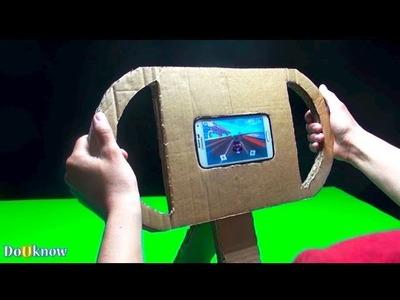 DIY Video, Make a Gaming Steering Wheel From Cardboard For Smartphones.