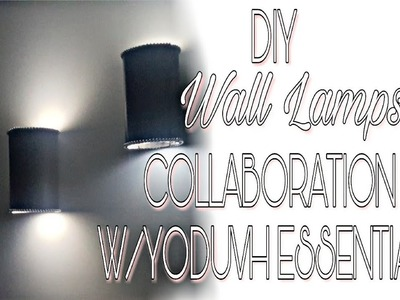 DIY WALL LAMPS |COLLABORATION WITH YODUVH ESSENTIALS |HOME DECOR ROOM DECOR