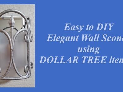 Dollar Tree DIY Elegant Wall Sconce