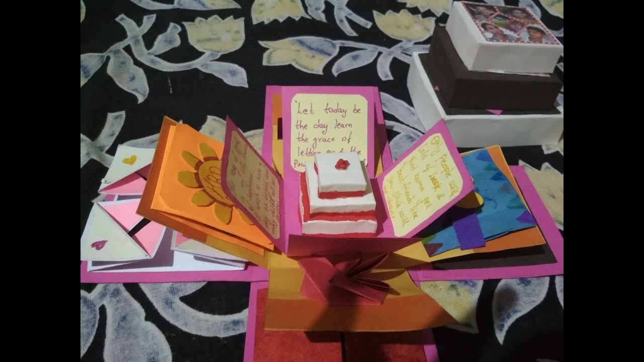 Explosion Box For Best Friend Birthday Diy Gifts