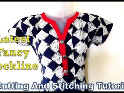 Fancy Kurti Neckline | Latest Neckline | How To Sewing Tutorial