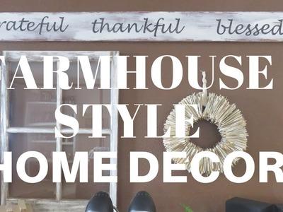 FARMHOUSE STYLE HOME DECOR| DIY | SPRING 2018 | SISTERS HOUSE