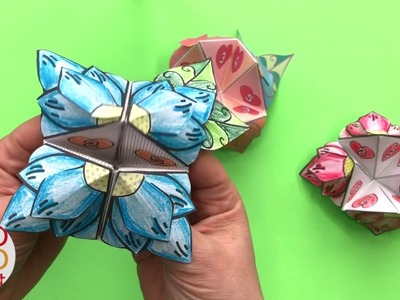 Flower Fortune Teller - Mother's Day DIY or BFF Friendship Chatterbox