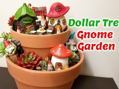 Gnome Garden Dollar Tree DIY How to