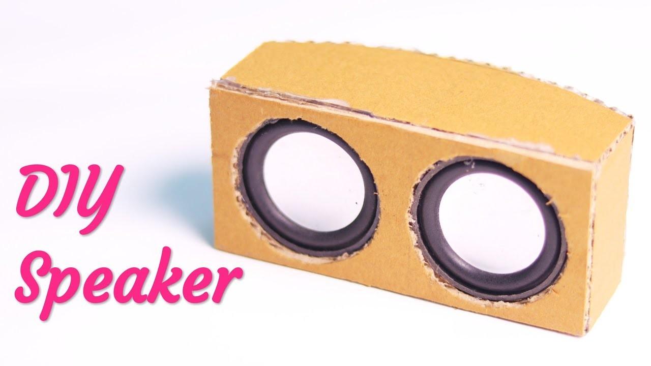 How I made my own SPEAKER using Cardboard  DIY Speaker using