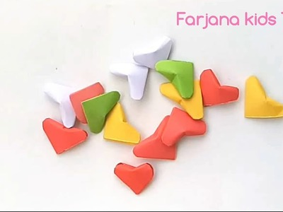 How to make 3D hearts. Diy 3d origami valentine heart