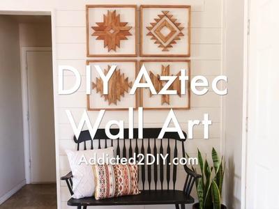 How To Make DIY Wooden Aztec Wall Art