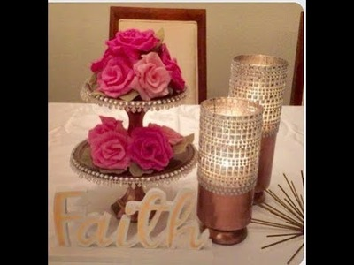 How To Make Dollar Tree Glam Candle Holders Cake Plate Stand Creating Elegance For Less