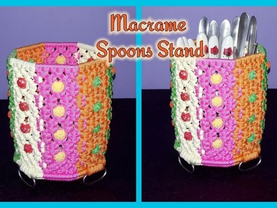 How to make Macrame Spoons Stand
