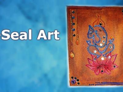 M-SEAL ART|| LIPPAN GANESH ART DIY || Creative Pinky