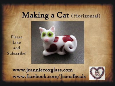 Making a Horizontal Cat Bead with Lampwork Glass by Jeannie Cox