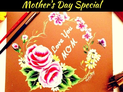 Mother's Day Painting | Acrylic painting | Rose painting  ???? ???? | DIY greeting card