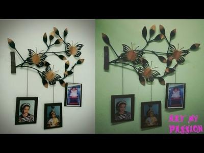 Newspaper wall hanging.newspaper wall decor.diy wall decor.room decor.diy photo frame.artmypassion