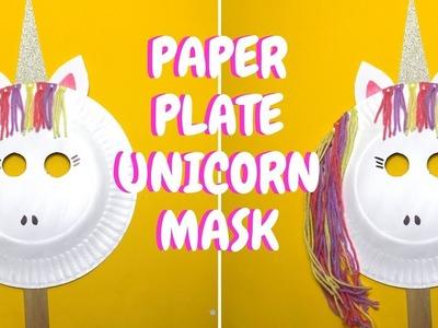 Paper Plate Unicorn Mask | Paper Plate Crafts