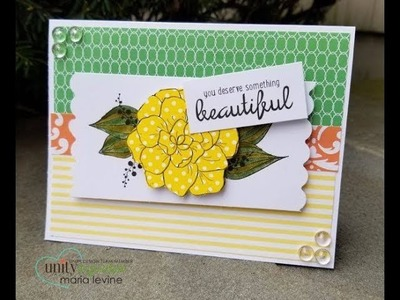 Unity Quick Tip: Paper Pieced Floral Card