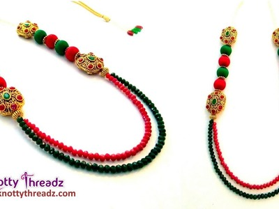 Victoria Beads Necklace | Antique Jewelry | Handmade Crystal Necklace | DIY | www.knottythreadz.com