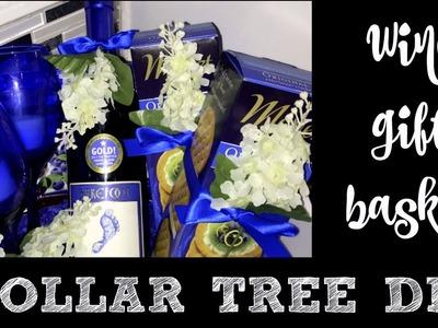 WINE GIFT BASKET DOLLAR TREE DIY