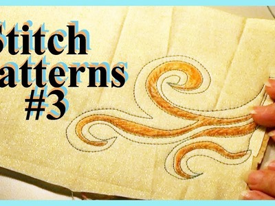 And 8 More Stitch Patterns for Creative Sewing (SP#3) | Wall Flowers Supplement | Zazu's Tutorials