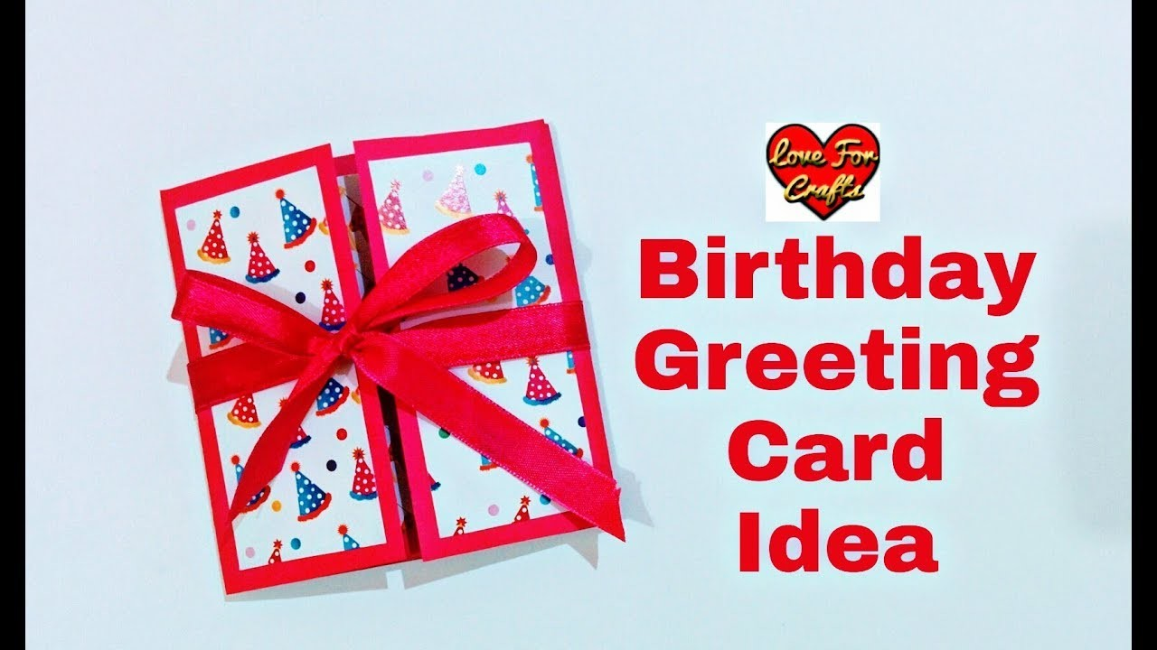 Birthday Gift Idea Handmade Birthday Greeting Card For Friends