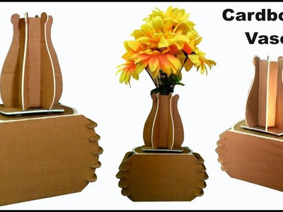 Make Cardboard Vase Diy How To Make A Vase From Waste Cardboard