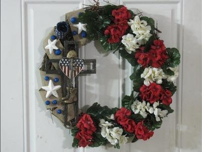 Carmen's Patriotic Salute Two Wreath Tutorial