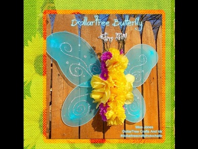 DIY Alert Dollar Tree Butterfly-Cheap-Easy-Fun-Wreath Or Grave Decoration