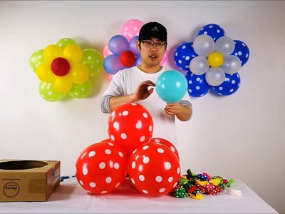 DIY Balloon Flower by Party Zealot